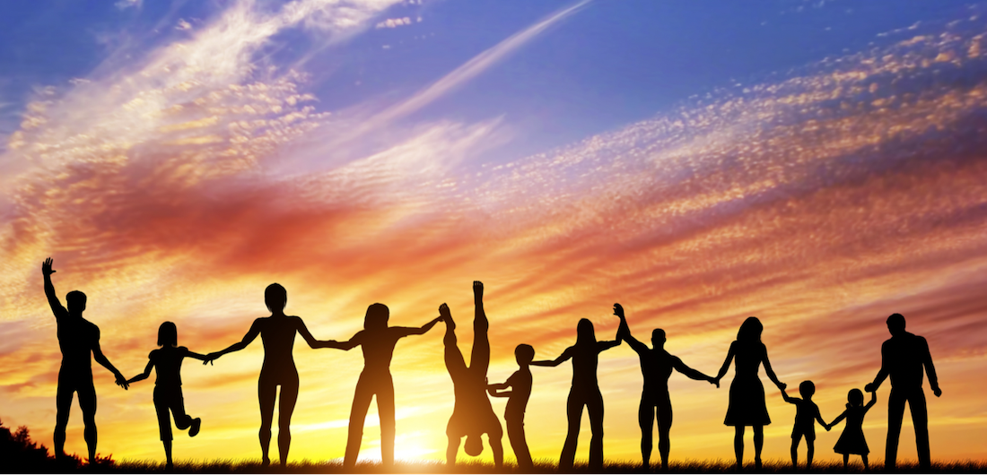 Family at sun set linking arms. When your teen is struggling what can you do to help? Begin counseling for teens in Florida to help. Consider adding in family therapy to help!